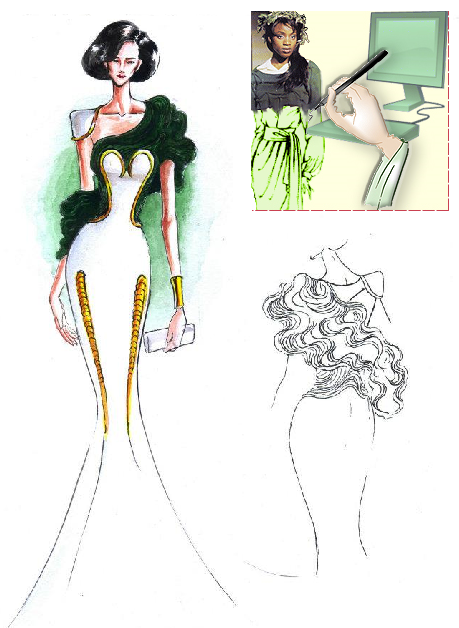 Design software generated clothing designs (CAD). The designs you create can only be limited by your own imagination!