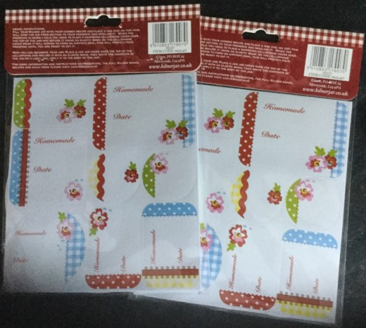 The back of the packs shows the enclosed labels