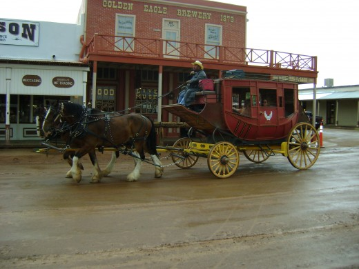 Carriage in the rain