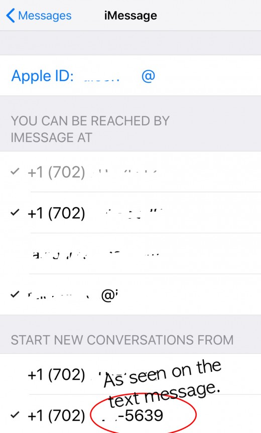 Settings, Messages, Send & Receive