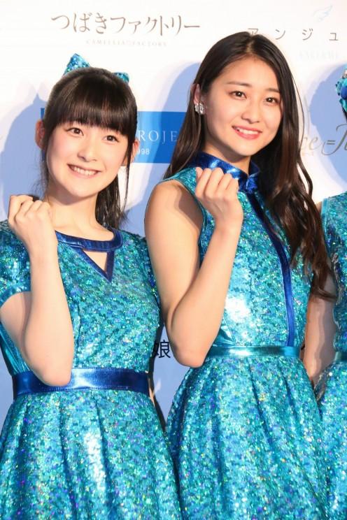 Momoko Tsugunaga (left) is seen here with Ayaka Wada a member of the girl group called ANGERME.