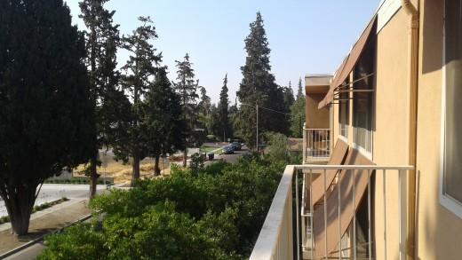 The balconies permit nice views of quiet neighborhoods