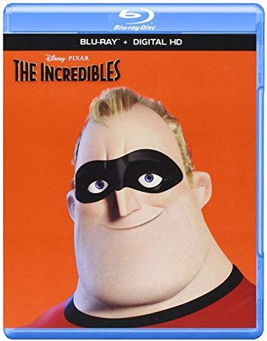 The Incredibles blu-ray cover.
