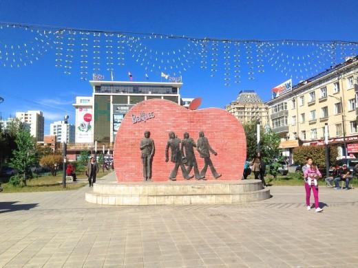 Beatles Monument in Ulaanbaatan, Mongolia