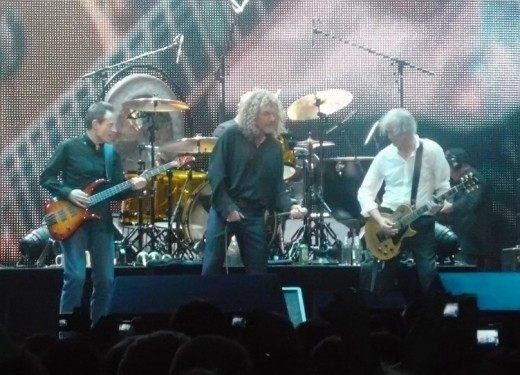 Led Zeppelin performance in London in 2007