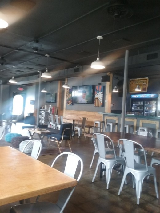 The interior of Bites and Pints gastropub restaurant