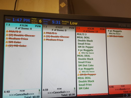 Drive-Thru Order Monitor