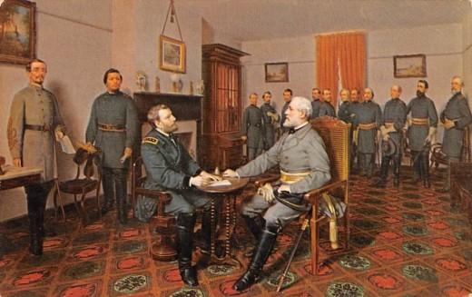 Appomattox Surrender by Louis Guillaume