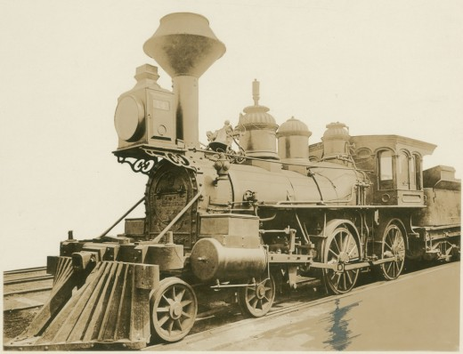 Train on which Jefferson Davis fled from Richmond in April 1865
