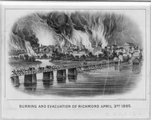 Burning and Evacuation of Richmond, April 3, 1865