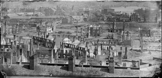 Richmond, Va. General View of the Burned District