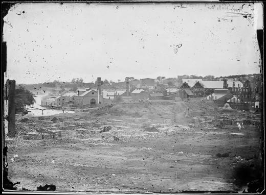 Ruins of Tredegar Ironworks, Richmond, Va. April, 1865