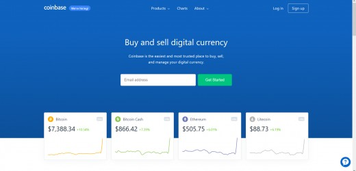 Coinbase Website
