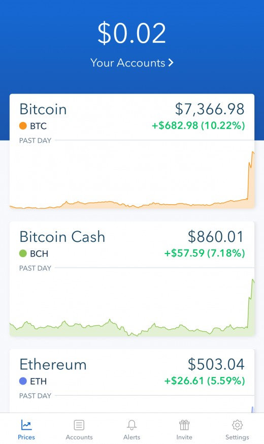 Coinbase Application