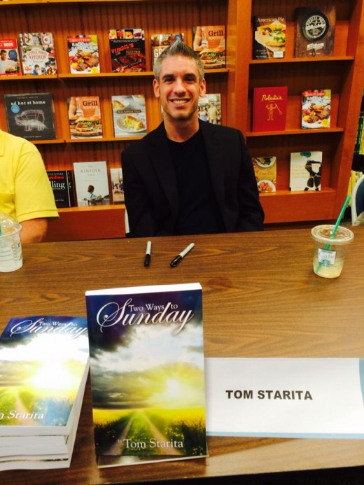 June 2013, Tom at Barnes & Noble for a book signing in Charlotte, NC.