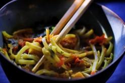 Curried Noodles - Vegan, Gluten Free, Kosher
