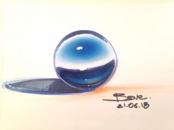 How to Draw a Sphere With Pastels
