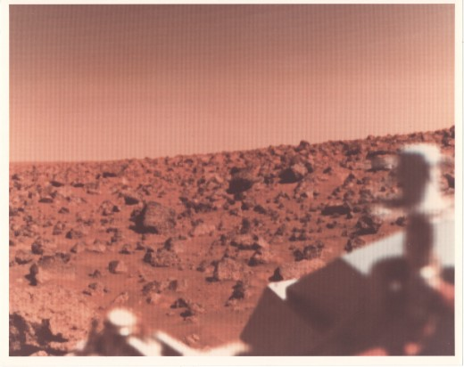 Surface of Mars as viewed from the Viking probe of the 1970's.
