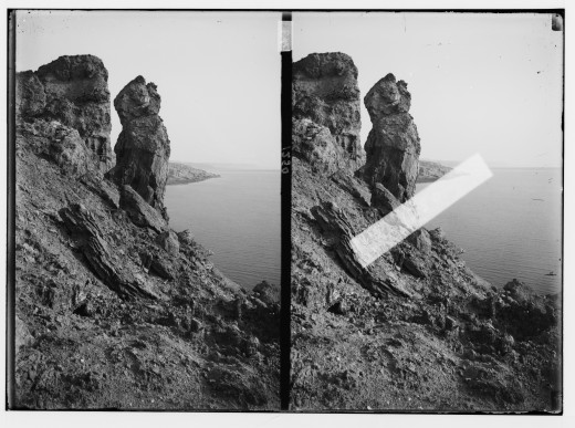 """Pillar of Salt"" at Mount Sodom  {{PD-1923}}"