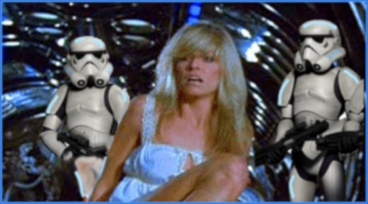 Farrah Fawcett was one of many young actresses considered for the part of Princess Leia in Star Wars, but the Force wasn't with her.