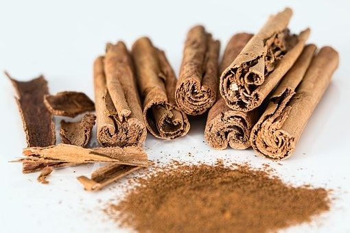 Cinnamon in many forms.