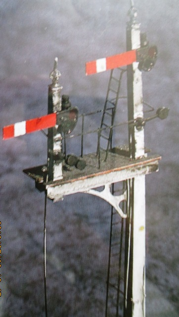 Again, lower aspect North Eastern double doll signal almost complete, with ladders, 'landing' and signal wires