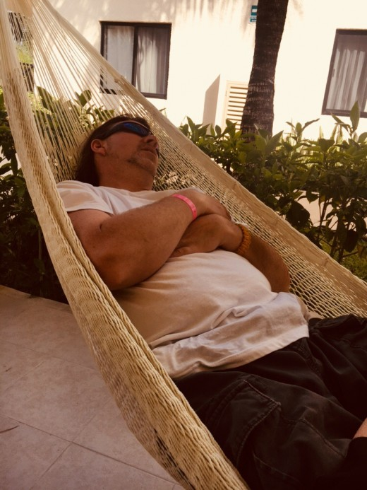 My hubby found some time for a nap