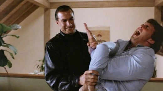 In between trying to tie the baddies into knots, Seagal delivers the single funniest line of dialogue I have ever heard in all my years. Sadly, it's unintentional.