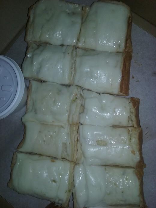 Cheesy bread served by Mario's Pizza