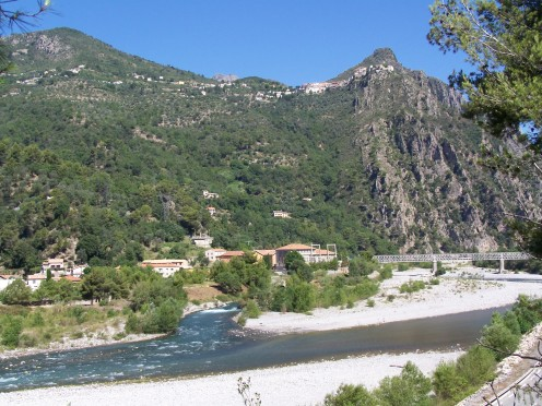 Gabre suburb in Bonson commune (Alpes-Maritimes, France)