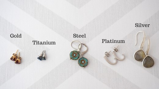 Some Of The Options For Hypoallergenic Earring Posts