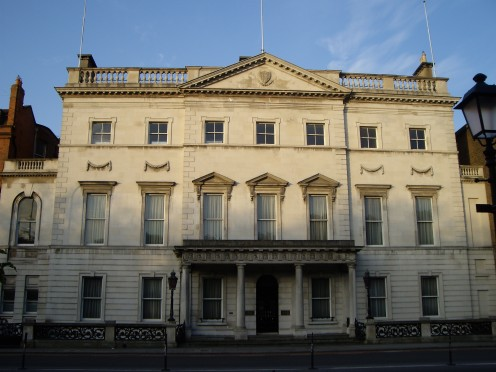 Iveagh House, 80-81 w:St Stephen's Green [South], Dublin 2: Headquarters of the Irish Department of Foreign Affairs