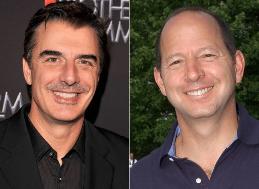 The inspiration behind Mr. Big: Ron Galotti (right) and his television character (Chris Noth).