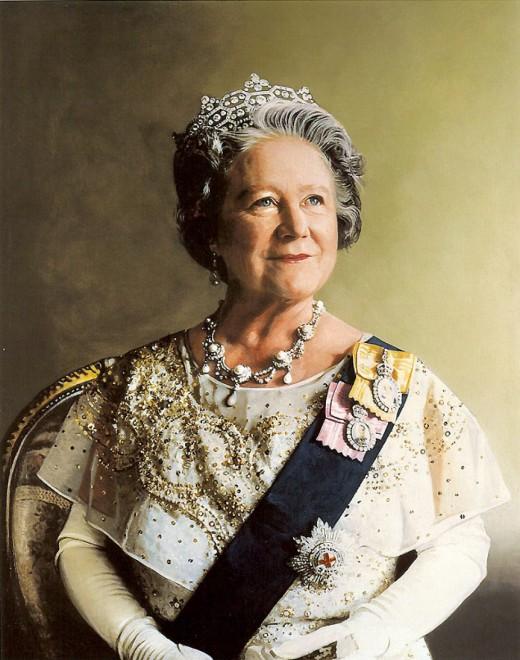 Queen Mother Elizabeth Angela Marguerite Bowes-Lyon; Born August 4, 1900; Died March 30, 2002 (aged 101)
