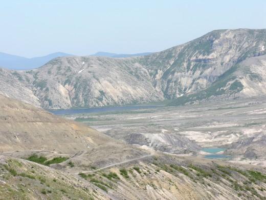 Spirit Lake in the left-hand corner.