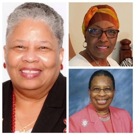 Rev. Margaret Minnicks, licensed 1995; Top: Rev. Gladys Robinson, licensed 2001; Bottom: Rev. Dr. Blanche Murphy, licensed 2008.