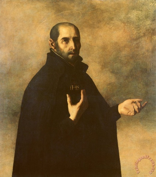 St. Ignatius, a famous proponent of this doctrine, by Francisco de Zurbara.