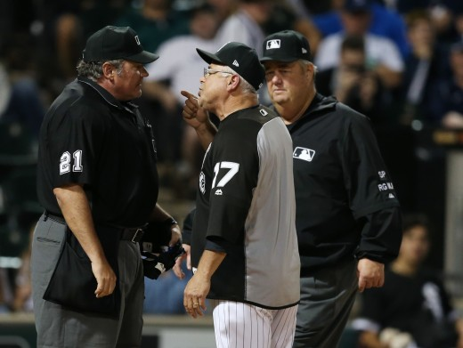 Arguing with umpires may be the only time White sox manager Rick Renteria has any control over his team's fortunes.
