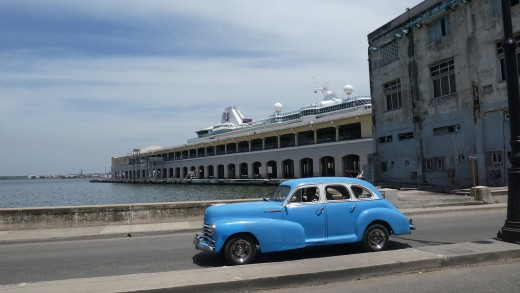 Empress of the Seas docks in the middle of downtown Havana, Cuba