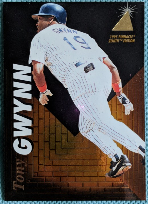 With only one pack of 1995 Zenith cards, it was nice to hit Hall of Famer Tony Gwynn.