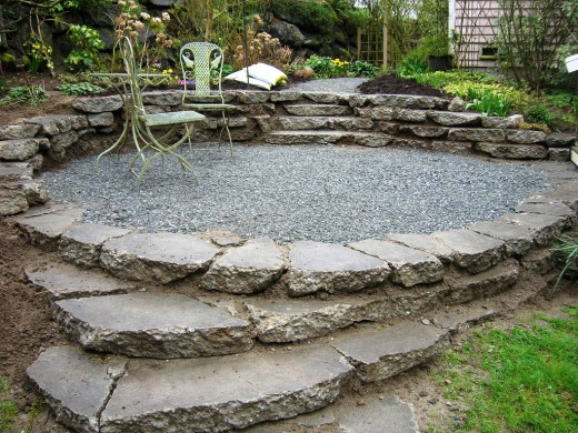 Don't overlook broken concrete as a great material for your landscaping, retaining wall, terrace, or pathway projects.