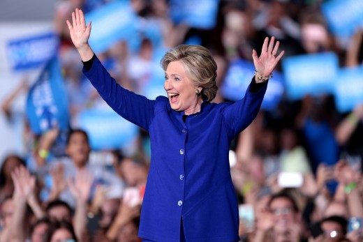 Hillary Clinton campaigning in 2016.