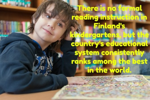In American kindergarten, every child is expected to read by the end of the school year, individual differences be damned. In Finnish kindergarten, there is no urgency for kids to read early.