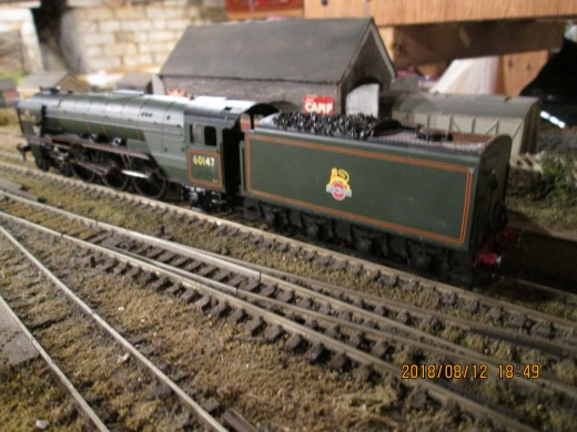 ...And here's my version, a Hornby Class A1 given a new identity, real coal in the tender, screw couplings and brass vacuum pipes [seen here on the 'Kirk Rigg' layout]