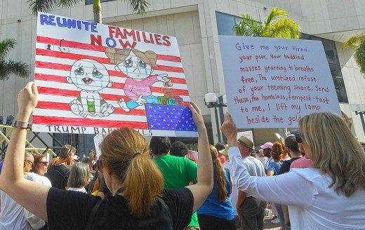 Family separation protests at Miami Dade College