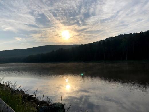 West Virginia morning on Snowshoe Mountain