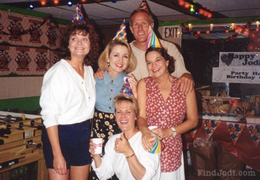 Photograph taken at Jodi Huisentruit's birthday just weeks before her disappearance.