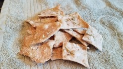 Homemade Whole Wheat Rosemary Olive Oil Crackers