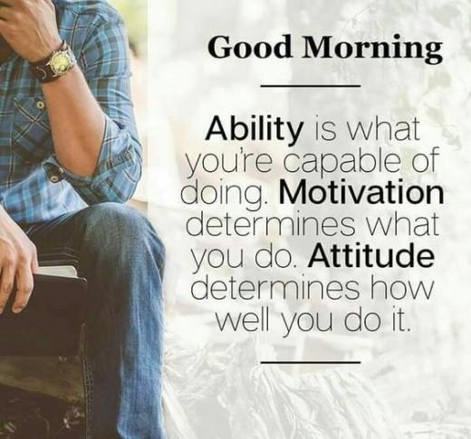 Attitude leads to success