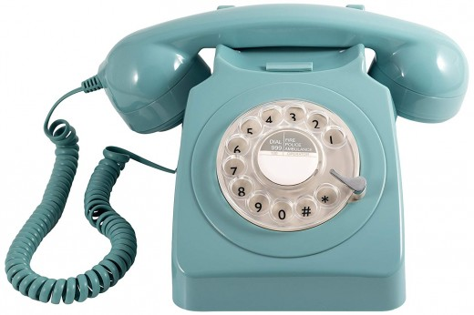 A typical telephone